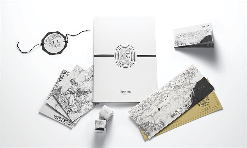 DIPTYQUE Volutes Press Kit and misc. - Safia Ouares ...