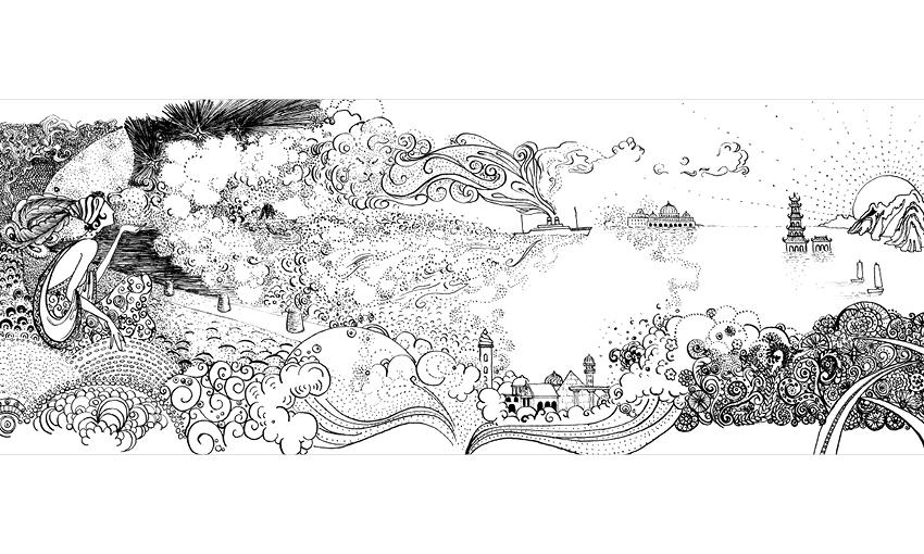 DIPTYQUE VolutesLabels - Safia Ouares Illustrator Artist